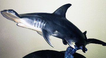 Hammerhead  Bronze Sculpture 48 in Sculpture - Robert Wyland
