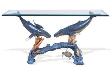 Humpback Arch Entry Table Bronze AP 2015 37x53  Sculpture - Robert Wyland