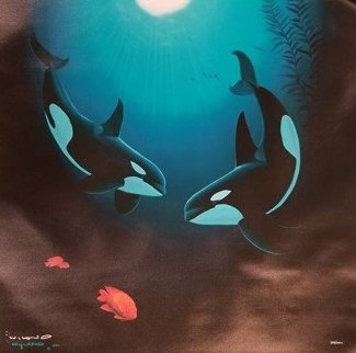 In the Company of Orcas 2000 Limited Edition Print - Robert Wyland