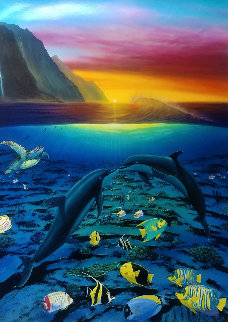 A Kiss For the Sea 2005 Limited Edition Print - Robert Wyland