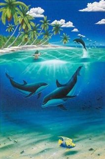 Dreaming of Paradise Colaberation With Dan Mackin 2000 Limited Edition Print - Robert Wyland