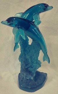 Oceans Friends Acrylic  Sculpture 1995 14 in Sculpture - Robert Wyland