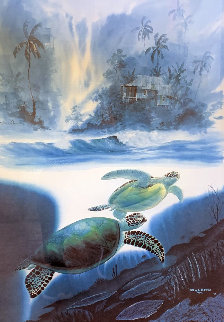 Turtle Waters 1993 Limited Edition Print - Robert Wyland