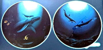 Innocent Age / Dolphin Serenity Diptych 1992 Limited Edition Print - Robert Wyland