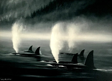 Orca Mist 2001 Limited Edition Print - Robert Wyland