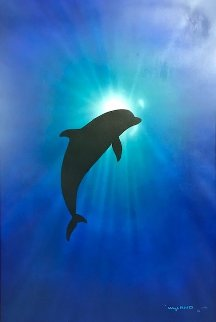 Dolphin Day 2002 34x46 Original Painting - Robert Wyland