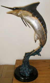 Marlin Bronze Sculpture AP 1997  30 in Sculpture - Robert Wyland
