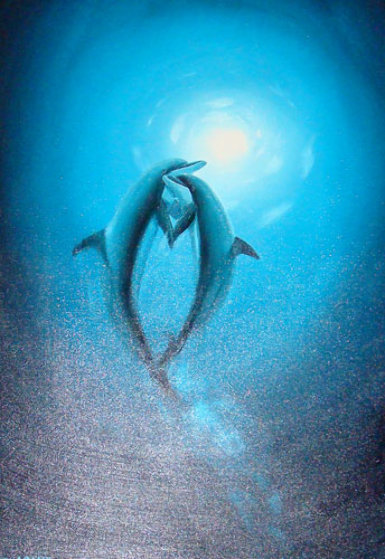 Warmth In the Sea (Dolphins) 2006 36x24