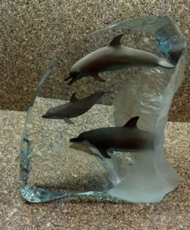 Dolphin Wonder Acrylic Sculpture 2001