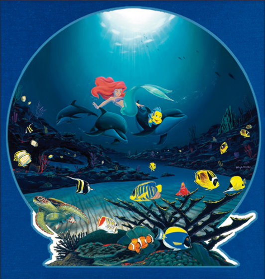 Ariel 39 s ocean ride 2001 by robert wyland for Best way to sell your art online