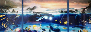 Ocean Trilogy (Triptych) AP 2001 Collaboration Embellished Limited Edition Print - Robert Wyland