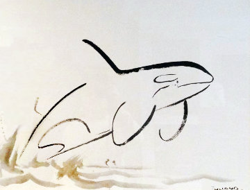 Orca 2007 35x45 Original Painting - Robert Wyland