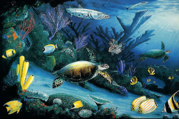 Living Reef, Cibachrome Diptych 1991 Limited Edition Print - Robert Wyland