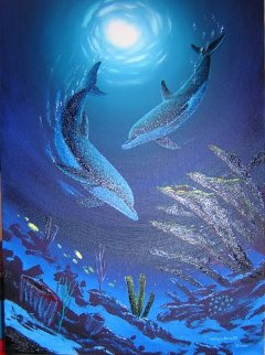 Coral Reef Dance 2007 41x32 Original Painting - Robert Wyland