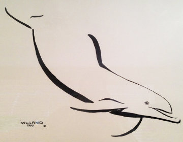 Dolphin Down  1990 Limited Edition Print - Robert Wyland