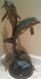 Synchronicity Maquette Bronze  Sculpture AP 1993 36 in  Sculpture - Robert Wyland