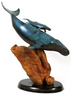 Innocent Age Life Size Bronze Sculpture 1991 31 inches Sculpture - Robert Wyland