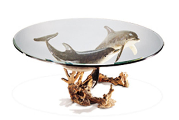 Charmant Reef Visit End Bronze Coffee Table 19x43 ...
