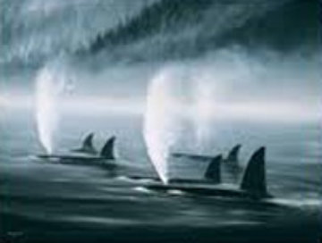 Orca Mist 1985 with Remarque Limited Edition Print - Robert Wyland