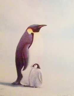 Penguins 1984 Limited Edition Print - Robert Wyland