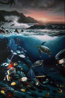 Above And Below 1989 Limited Edition Print - Robert Wyland