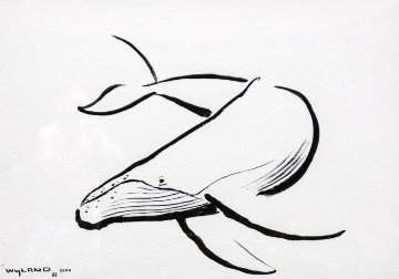 Humpback Whale Unique 2000 34x43 Works on Paper (not prints) - Robert Wyland