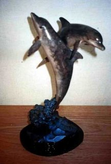 Ocean Friends Bronze Sculpture AP 1994 17 in Sculpture - Robert Wyland
