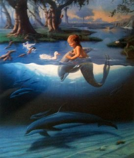 Littlest Mermaid 1994 Limited Edition Print - Robert Wyland