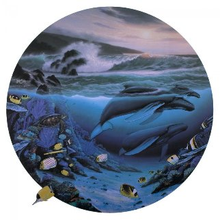 Whale Waters 1992 Limited Edition Print - Robert Wyland