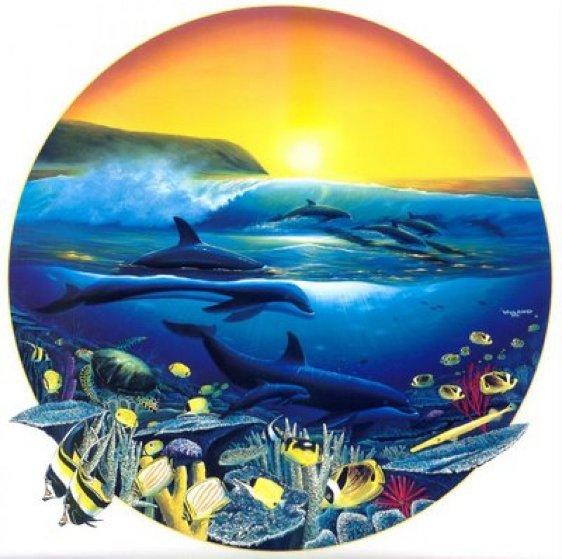 Surfing 1992 by Robert Wyland