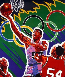 Basketball (From the Centennial Olympic Games) 1996 Limited Edition Print - Hiro Yamagata