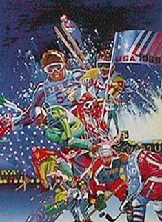 Winter Olympic Games 1988 Limited Edition Print - Hiro Yamagata