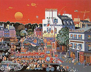 Circus in the Square 1987 Limited Edition Print - Hiro Yamagata