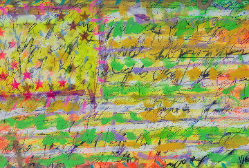 Mile Marker 2009 32x48 Original Painting - Tim Yanke