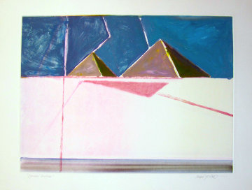 Pyramid Reversal (Masoud Yasami) Monotype Works on Paper (not prints) - Masoud  Yasami