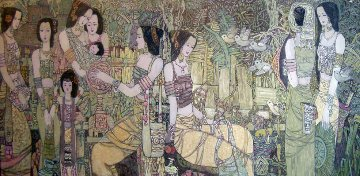 Season To Rejoice 2009 53x92 Mural Works on Paper (not prints) - Chen Yongle