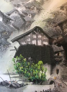 Summer Village II Watercolor 48x33 Watercolor - Guo Yongqun