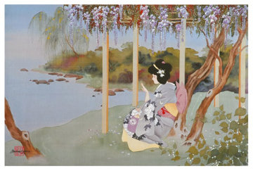 Fan Dancer and Wistful Wisteria Limited Edition Print - Caroline Young