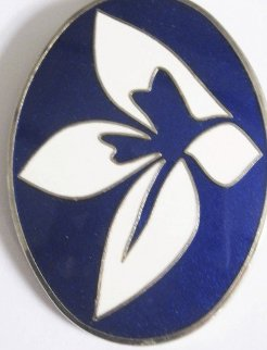 Blue and White Enamel Flower Brooch/pendant 1969 Jewelry - Jack Youngerman