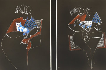 Trio Duet Dipytch 1989 Set of 2 Limited Edition Print -  Yuroz