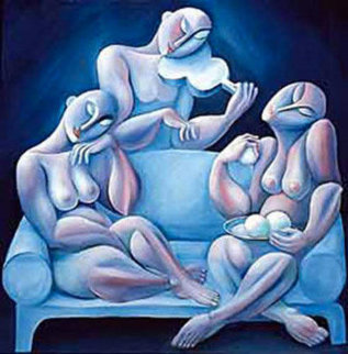 Light Blue Couch 1990 Limited Edition Print -  Yuroz