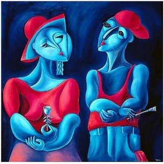 Harmony in Red AP 1990 Limited Edition Print -  Yuroz