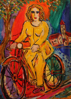 A Ride Into the Country 2000 29x24 Original Painting - Zamy Steynovitz