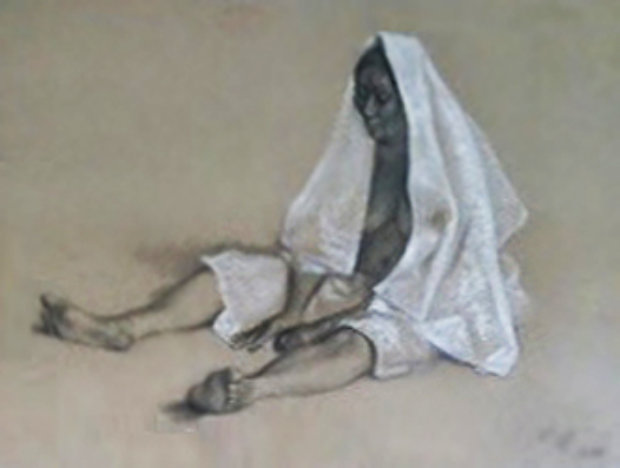 Untitled (Seated Woman with Shawl) 1980