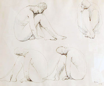 Study For Marbles Drawing 1962 Drawing - Francisco Zuniga