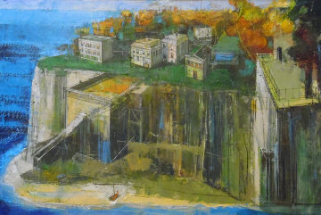 Cliff Villas 24x36 Original Painting - Alex Zwarenstein