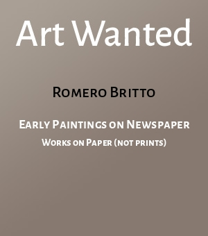 Early Paintings on Newspaper