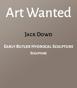 Early Butler Hydrocal Sculpture