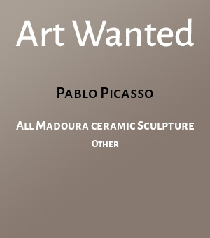 All Madoura ceramic Sculpture