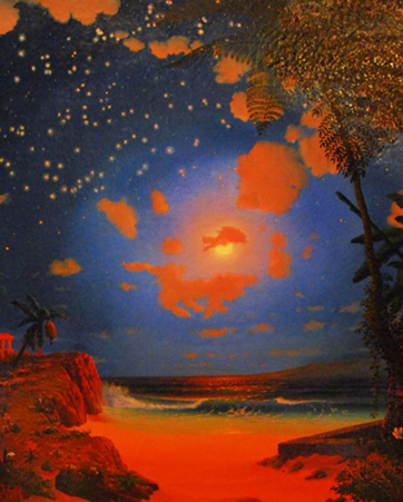 Dream Caused by Clouds That Resemble Animals on a Moonlit Night in the Northern Hemisphere